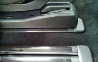 Clean car interior floor