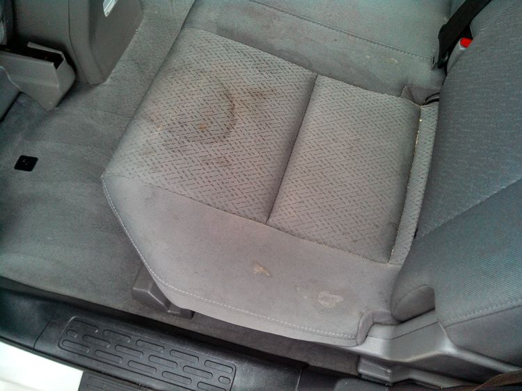 seat before cleaning