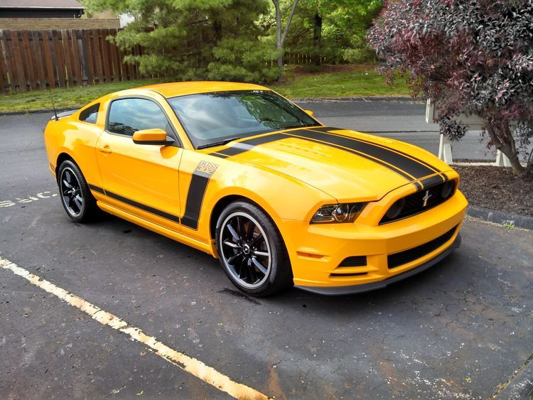 Yellow Ford Mustang Detailing