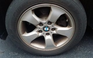 BMW wheel brake dust