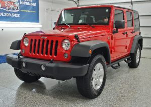 Red Jeep Wrangler