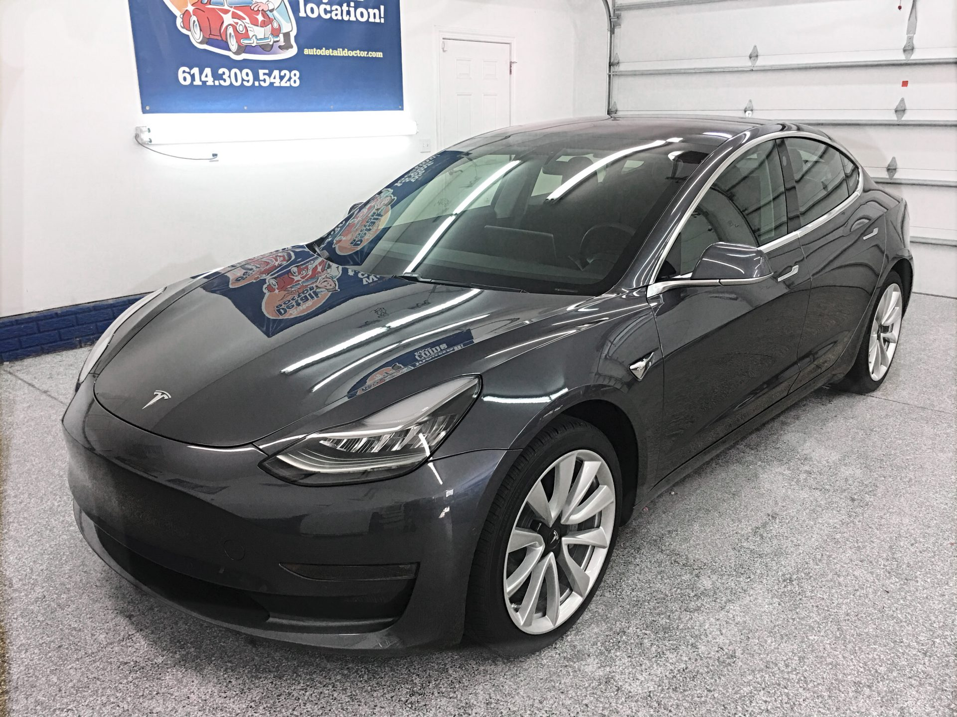 2018 Midnight Silver Metallic Tesla Model 3