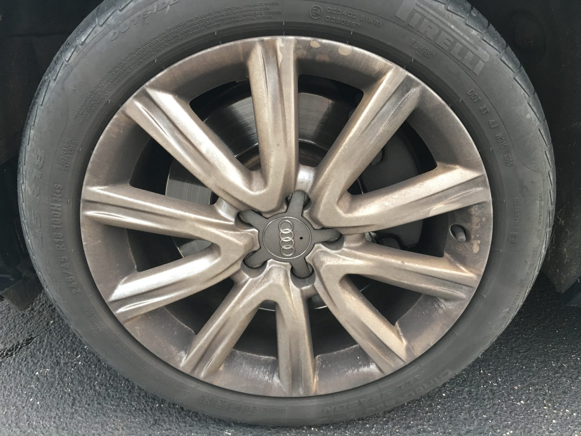 Audi Wheel With Brake Dust