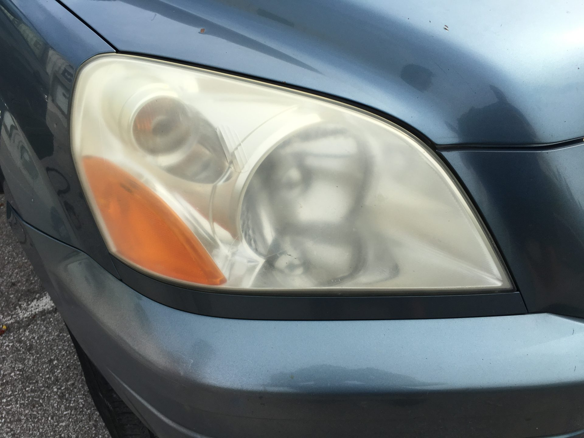 Honda CRV Faded Headlight